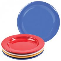 Blue Melamine Dinner Plate with Steep Sides - 23cm