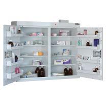 Drug Cabinet with 8 shelves/8 door trays/2 doors