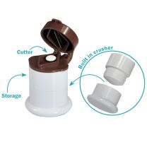 3 in 1 Pill Cutter, Crusher & Storage
