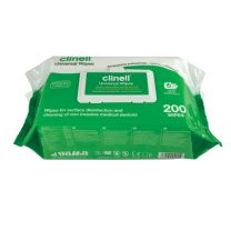 Clinell Universal Sanitising Wipes - Pack 200