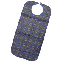 Blue & Red Checked Clothing Protector / Adult Bib - 45 x 90cm