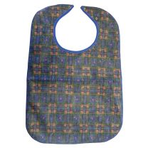 Blue & Red Checked Clothing Protector / Adult Bib - 45 x 60cm