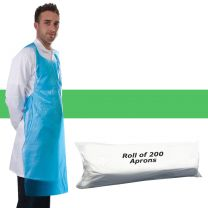 Apron Polythene Green - Roll 200