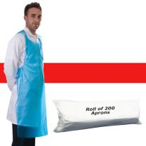 Apron Polythene Red - Roll 200