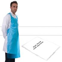 Apron Polythene White Flat Pack - Pack 100