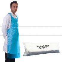 Apron Polythene White - Roll 200