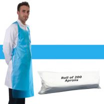 Apron Polythene Blue - Roll 200