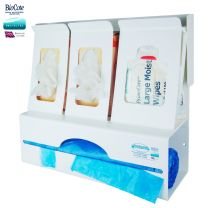 Glove Box x 2, Wipe & Roll Apron Dispenser with Antimicrobial Protection Countrywide Branded