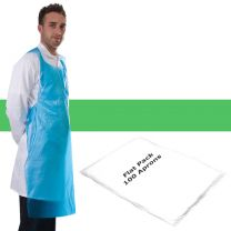 Apron Polythene Green Flat Pack - Pack 100
