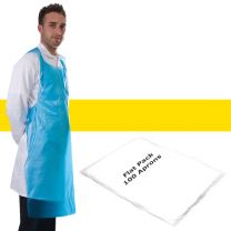Apron Polythene Yellow Flat Pack - Pack 100