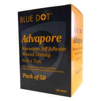 Advapore Non-Woven Self Adhesive Wound Dressings - 6 x 7cm