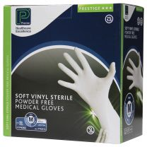 Gloves Soft Vinyl P/F Sterile Medium - Pack 50