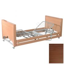Primacare Pisces Low Bed with Integral Side Rails WALNUT