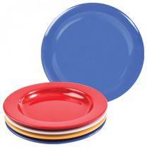 Blue Melamine Dinner Plate with Steep Sides - 23cm
