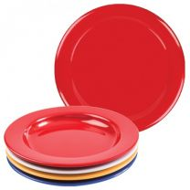 Red Melamine Dinner Plate with Steep Sides - 23cm