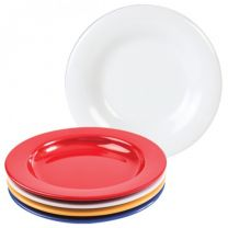 White Melamine Dinner Plate with Steep Sides - 23cm