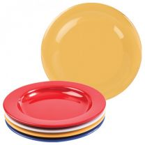 Yellow Melamine Dinner Plate with Steep Sides - 23cm