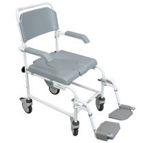 Deluxe Mobile Shower & Commode Chair