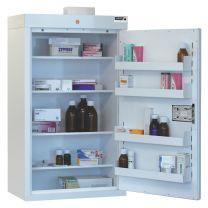 Drugs Cabinet with 4 shelves/4 door trays/1 door