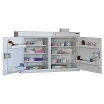 Drug Cabinet with 6 shelves/4 door trays/2 doors