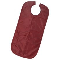 Burgundy Apron Style Clothing Protector / Adult Bib - 45 x 90cm